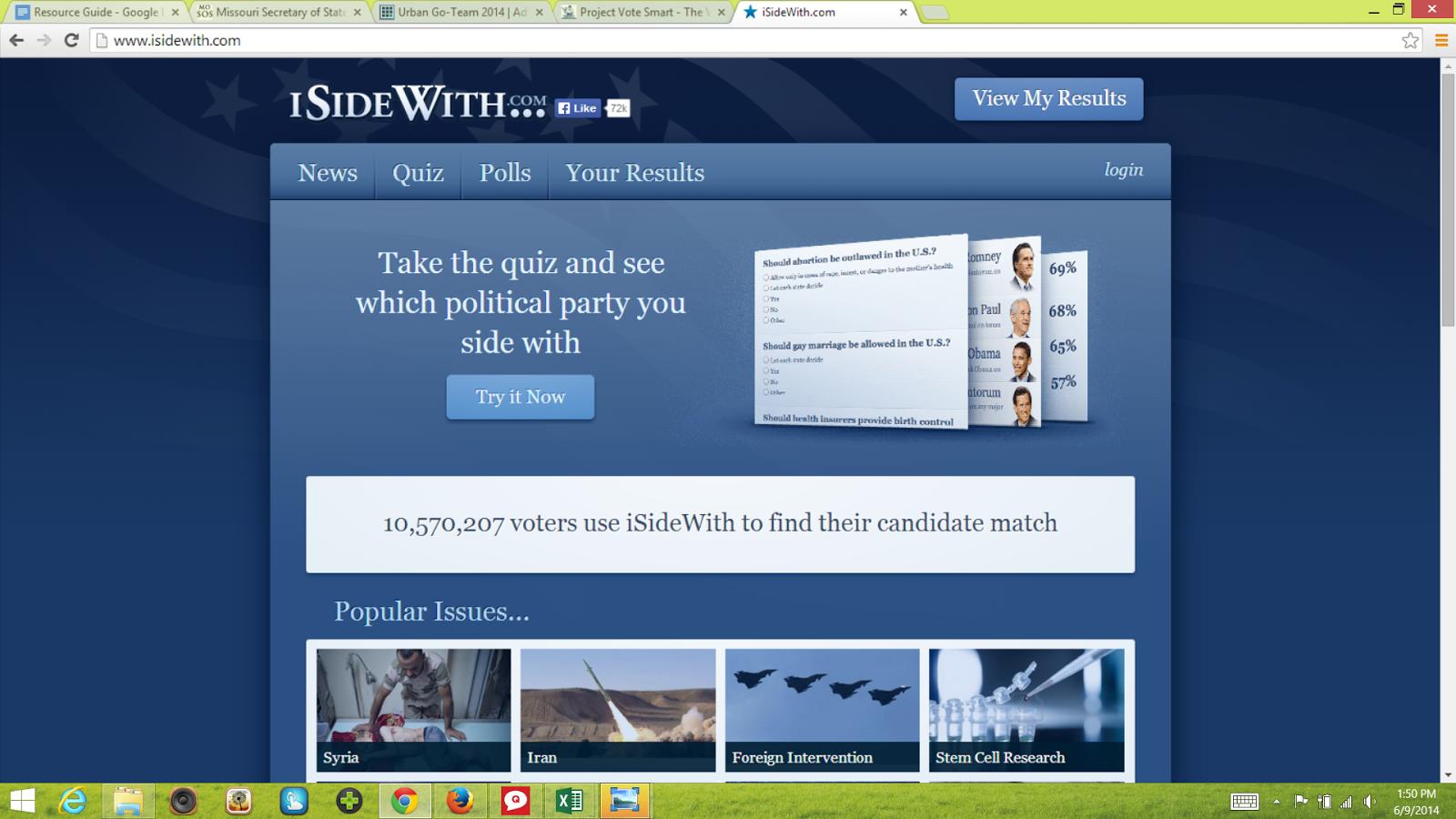 Political personality quiz!